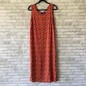 Erika Sleeveless Floral Sheath Dress Size Medium